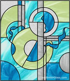 modern stained glass sky design: love the colors