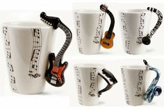 Coffee Mugs Inspired by Music - www.icreatived.com/2014/01/coffee-mugs-inspired-by-music