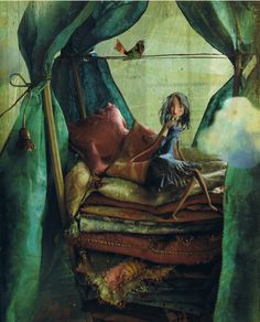 Princess on the pea - La principessa sul pisello - illustrated by Miss Clara