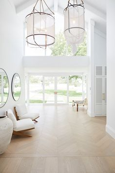 WHY SOPHIE CHOSE ENGINEERED TIMBER FLOORING — THREE BIRDS RENOVATIONS Stone Feature Wall, Engineered Timber Flooring, Floors Direct, Three Birds Renovations, Villa, Interiors Online, Hamptons House, Windows And Doors, Ceiling Windows