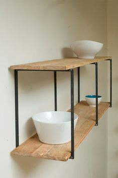 Reclaimed, Recycled, and Beautiful Floating Shelves-great idea for my reclaimed barn wood: