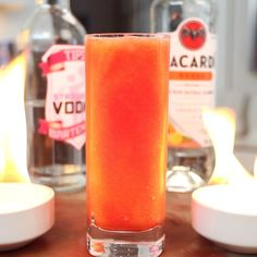 Pokemon Go Flareon - Tipsy Bartender Strawberry Daiquiri Mix, Mango Daiquiri, Mango Rum, Strawberry Vodka, Mango Cocktail, Cocktail Recipes, Cocktails, Pokemon, Tipsy Bartender