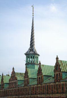 Denmark, Copenhagen, Stock Exchange building