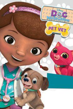 Pet Vet poster printable - Doc McStuffin's new job is Purrrr-fect!   SKGaleana