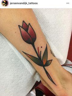 Cute Tattoos, Flower Tattoos, Body Art Tattoos, Girl Tattoos, Small Tattoos, Traditional Tattoo Flowers, Traditional Tattoo Flash, Arm Tattoo, Sleeve Tattoos