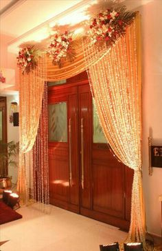 Ideas For Wedding Reception Ideas Barn Entrance Wedding Reception Ideas, Desi Wedding Decor, Wedding Hall Decorations, Wedding Entrance, Engagement Decorations, Wedding Halls, Backdrop Decorations, Diwali Decorations, Wedding Ceremony