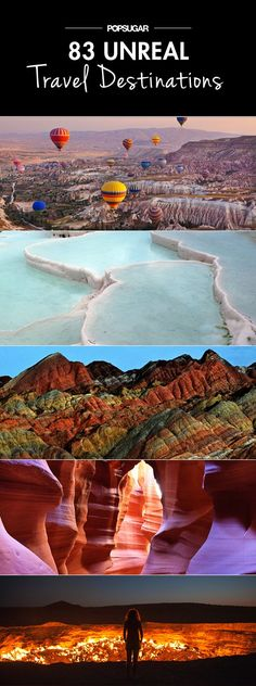 Unreal Places You Thought Existed Only in Your Imagination Put these destinations on your travel bucket list.Put these destinations on your travel bucket list. Vacation Destinations, Vacation Spots, Amazing Destinations, Turkey Destinations, Bucket List Destinations, Cambodia Destinations, Unique Honeymoon Destinations, Vacation Mood, Vacation Planner
