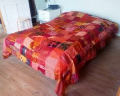 bedspread of recycled silk