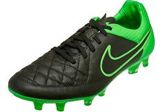 At SoccerPro. Nike Tiempo Legend V FG Soccer Cleats - Black and Green