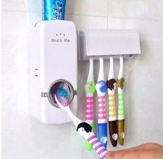 Espremedor Automático De Creme Dental Pasta C Porta Escovas - R$ 28,90 em Mercado Livre