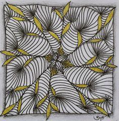 AKUA-ART tile using Tina-Akua Hunziker's new tangle, Yuma
