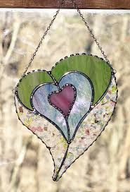 Image result for stained glass heart patterns #StainedGlassGarden
