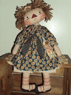 Primitive Raggedy Ann Sunflower Annie | eBay