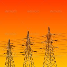 Electric Pylon at Sunset  #GraphicRiver         Electric pylon at sunset. Vector illustration.     Created: 15July13 GraphicsFilesIncluded: JPGImage #VectorEPS Layered: Yes MinimumAdobeCSVersion: CS Tags: cable #electric #electrical #electricity #energy #engineering #environment #equipment #high #illustration #industrial #industry #line #metal #pole #power #pylon #silhouette #sky #station #steel #structure #sunset #supply #technology #tower #transmission #vector #voltage #wire