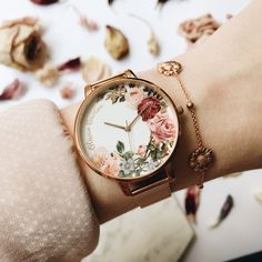 [orginial_title] – Ren Beattie 🌸Beautiful English Garden watch by Olivia Burton has just arrived in store. … 🌸Beautiful English Garden watch by Olivia Burton has just arrived in store. Fancy Watches, Trendy Watches, Cute Watches, Luxury Watches, Cheap Watches, Cute Jewelry, Jewelry Accessories, Fashion Accessories, Fashion Jewelry