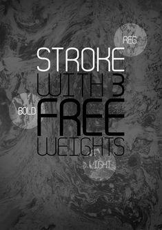 Stroke - Free font by The Kinetic , via Behance