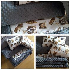 Poduchy i koc dla miłosników psów Pillows & blanket minky