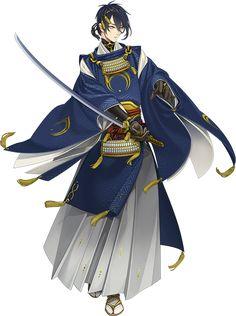 Basics of Touken Ranbu Anime Kimono, Manga Anime, Anime Art, Character Concept, Character Art, Character Design, Yukata, Fantasy Characters, Anime Characters