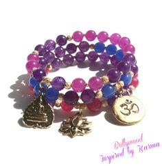 Bollywood- Yoga Stacking bracelets on The CraftStar @TheCraftStar #uniquegifts  $54