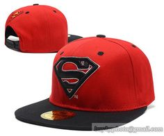 Superman Snapback Red Black|only US$8.90