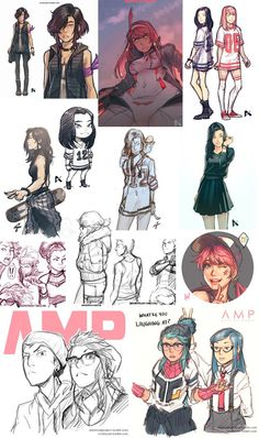 AMP Sketch Dump 1 by dCTb on deviantART