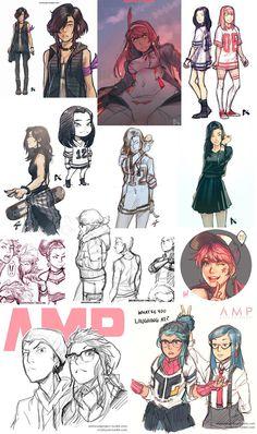 AMP Sketch Dump 1 by dCTb on DeviantArt
