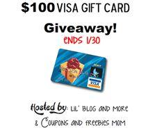 $100 Visa Gift Card Giveaway Ends 1/30