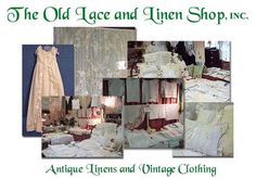 antique table linens | The Old Lace and Linen Shop, INC Antique Linen and Vintage Clothing