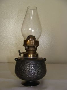 Antique Miniature Silverplate Limited Edition Meriden Oil Lamp 19th Century | eBay