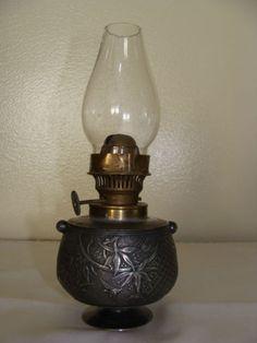 Antique Miniature Silverplate Limited Edition Meriden Oil Lamp 19th Century   eBay