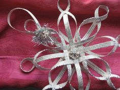 Woven Star Ornament from Vintage Book Pages