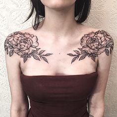 Image result for flower shoulder cap tattoo