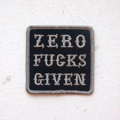 Zero Fucks Given Patch from VNM