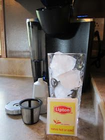 This is how I make all my tea... hot or cold!  Super easy!  I will never buy Kcup for tea!