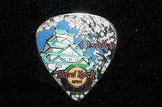 Hard Rock Cafe Osaka Postcard Pick Series Pin 2012 Pagoda Cherry Blossom | eBay