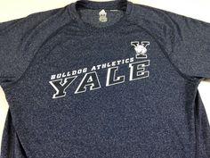 Yale Bulldogs Shirt Mens Medium Adidas Climalite Double Sided Fitness Gym Run http://www.ebay.com/itm/-/252779632585?roken=cUgayN&soutkn=sjQ5Zy #bogo #connecticut #smart #beatharvard