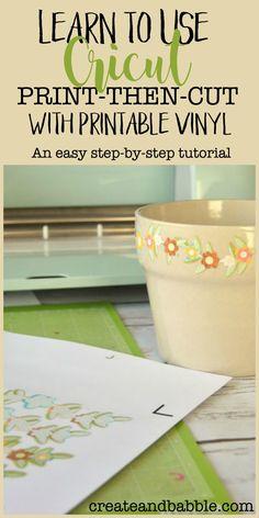 Learn to Use Cricut Print Then Cut