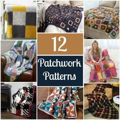 12 Patchwork Patterns - The patchwork you see in quilts has nothing on these crochet patterns. Get the same look, but with your favorite yarn.
