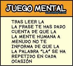 """Juego Mental. """"La"""""""