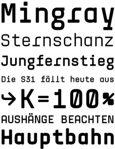 Mingray Mono (Rekord) 10.2011 Monospace, Munich, Typography Design, Prints, Inspiration, Decor, Biblical Inspiration, Type Design, Typographic Design