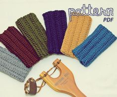Crochet Pattern - Easy Flat Square Fingerless Mitten - PDF