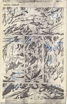 Uninked John Byrne pencils to Marvel Team-Up #75.