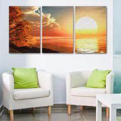 compra puesta de sol cuadro pintura mural arte moderno decoracin hogar online linio colombia