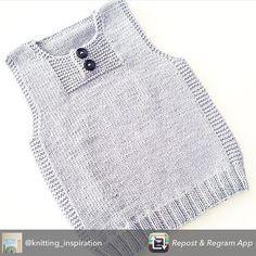 Best 12 Ravelry: Hverdags- og festvest pattern by Maria / Strikketanten Baby Boy Knitting Patterns, Knitting For Kids, Baby Knitting Patterns, Half Sweater, Diy Crafts Knitting, Ravelry, Pull Bebe, Knit Vest Pattern, Filet Crochet Charts