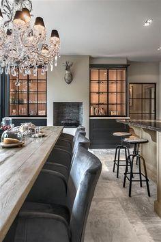 Rijkevorsel landelijk keukenproject Living Tv, Home And Living, Living Room Inspiration, Interior Inspiration, Kitchen Inspiration, Interior Design Kitchen, Interior Decorating, Home Furnishings, Sweet Home