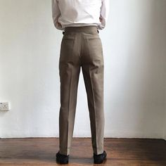"""dylanandson - """"  House cut (part 3 of 4): A cleaner back piece. The kind of fabric used can heavily influence the cleanliness of the drape. #dylanandson #sartorial #menswear #tailoring #bespoke #housecut #trousers #alden  """""""