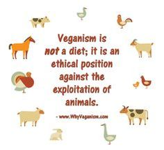Veganism is *not* a diet; it is an ethical position against the exploitation of animals. - www.WhyVeganism.com