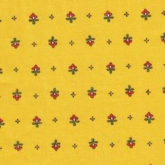 Vence saffron allover fabric #520