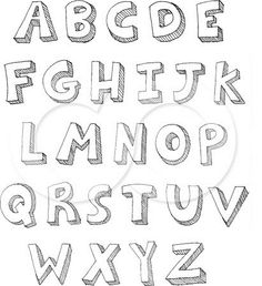How To Draw Bubble Letters More