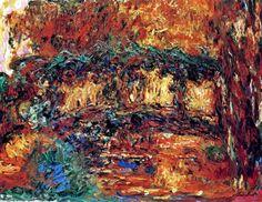 A ponte japonesa 7 , 1924 por Claude Monet (1840-1926, France)